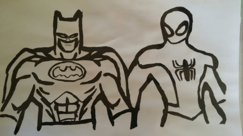 Spider-Man, Batman par bruce72